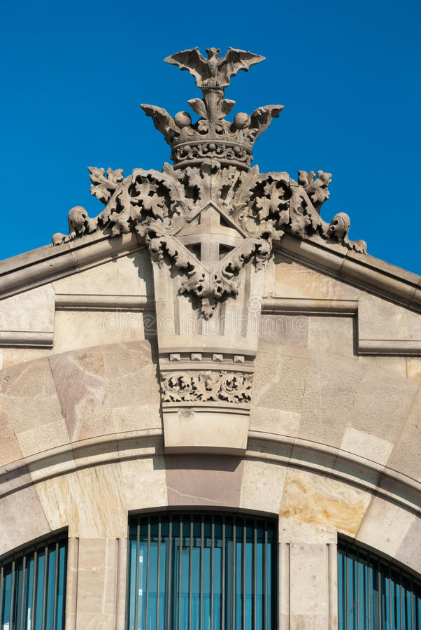 Architekturdetail in Barcelona, Spanien stockfotografie