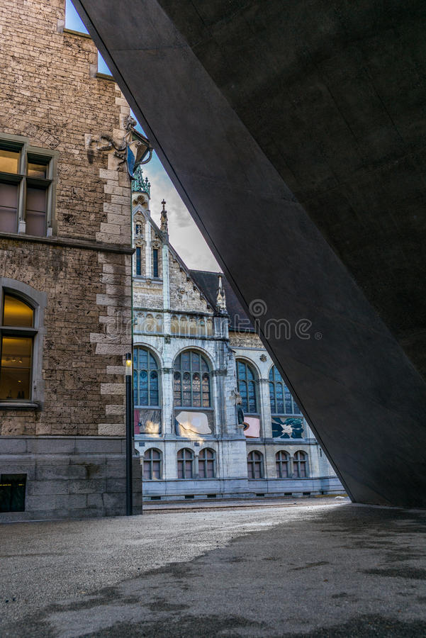 Architekturdetail des Landesmuseum in Zürich - 3 stockbild