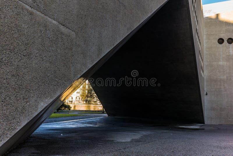 Architekturdetail des Landesmuseum in Zürich lizenzfreies stockfoto