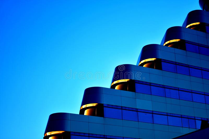 Architekturdetail des Olympiahimmelhotels lizenzfreies stockfoto
