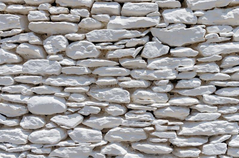 Architekturdetail einer Bruchsteinmauer, Kythnos-Insel, die Kykladen, Griechenland lizenzfreie stockfotografie