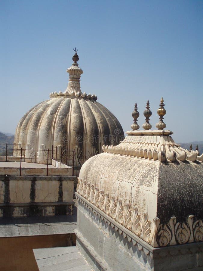 Architekturdetail an Kumbhalgarh-Fort, Indien lizenzfreie stockfotografie