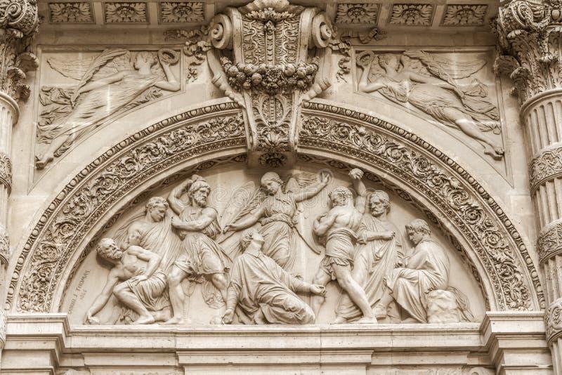 Architekturdetail von Sainte-Genevieve, Paris stockbild