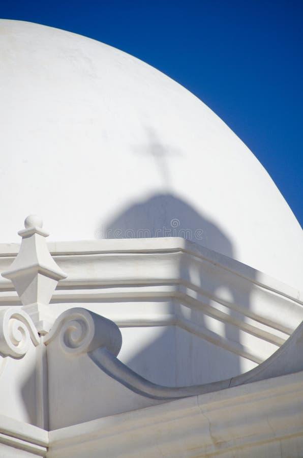 Architekturdetail von San Xavier del Bac Mission stockbilder