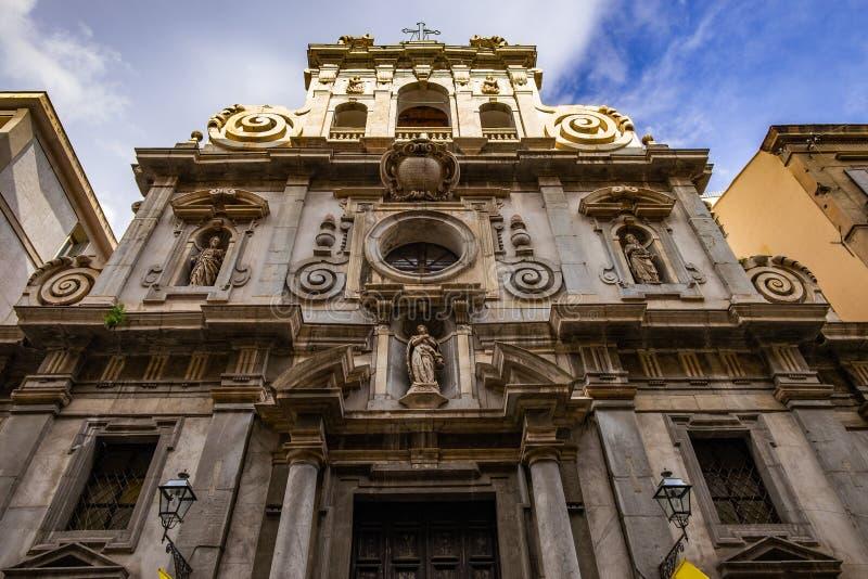 Architekturdetails Der Barocken Kathedrale In Palermo ...