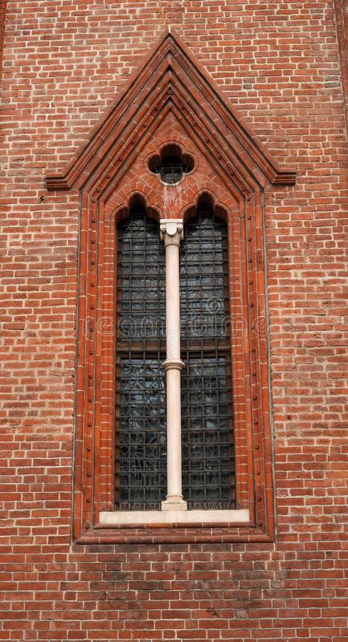 Architekturfragment Gotisches Fenster Kirche Von San ...