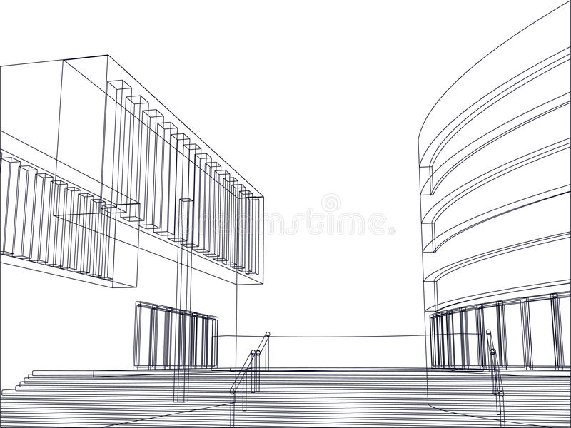 Architekturgebäudeplanvektor vektor abbildung