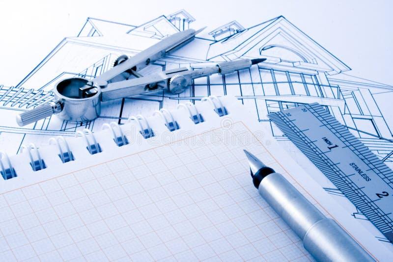 Architekturhauptprojekt lizenzfreies stockfoto