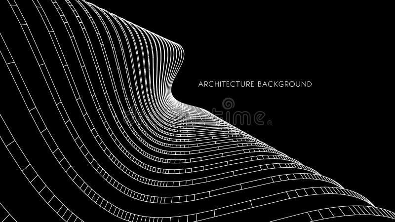 Architekturhintergrund 3d abstrakte Vektorillustration abstraktes futuristisches Design 3D für Geschäftsdarstellung vektor abbildung
