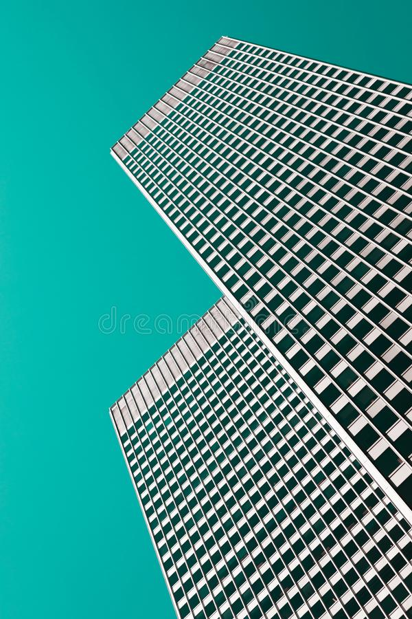Architekturhintergrund in den Knickententönen stockbilder