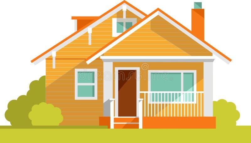 Architekturhintergrund mit Familienhaus lizenzfreie abbildung