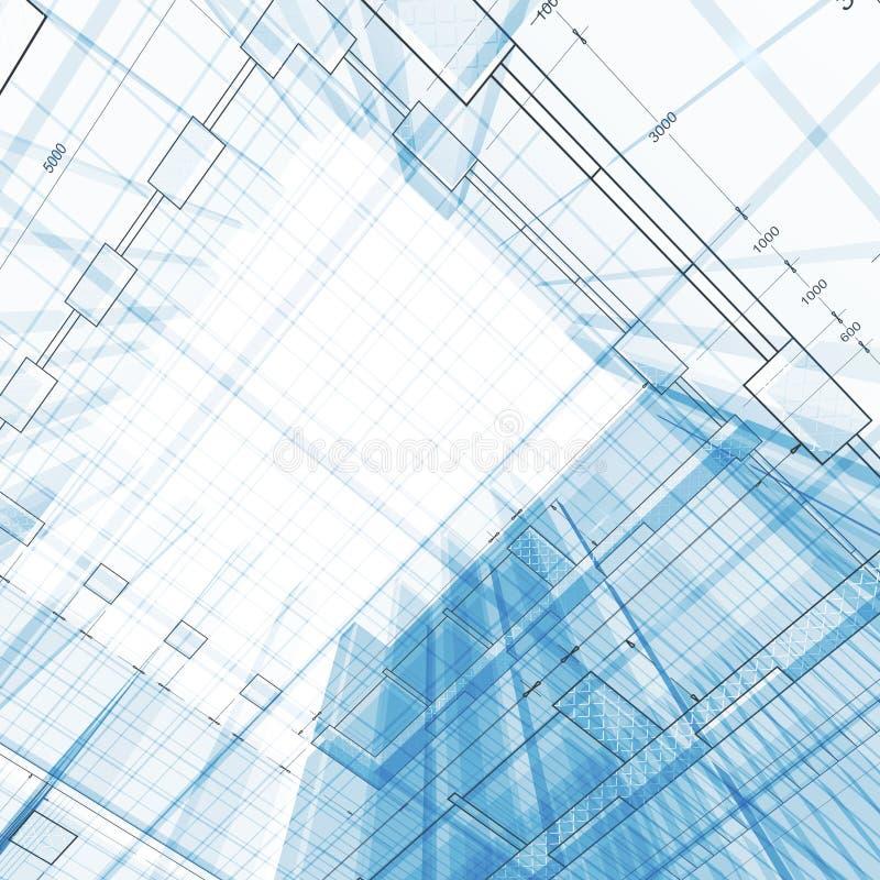 Architekturlichtpause lizenzfreie abbildung