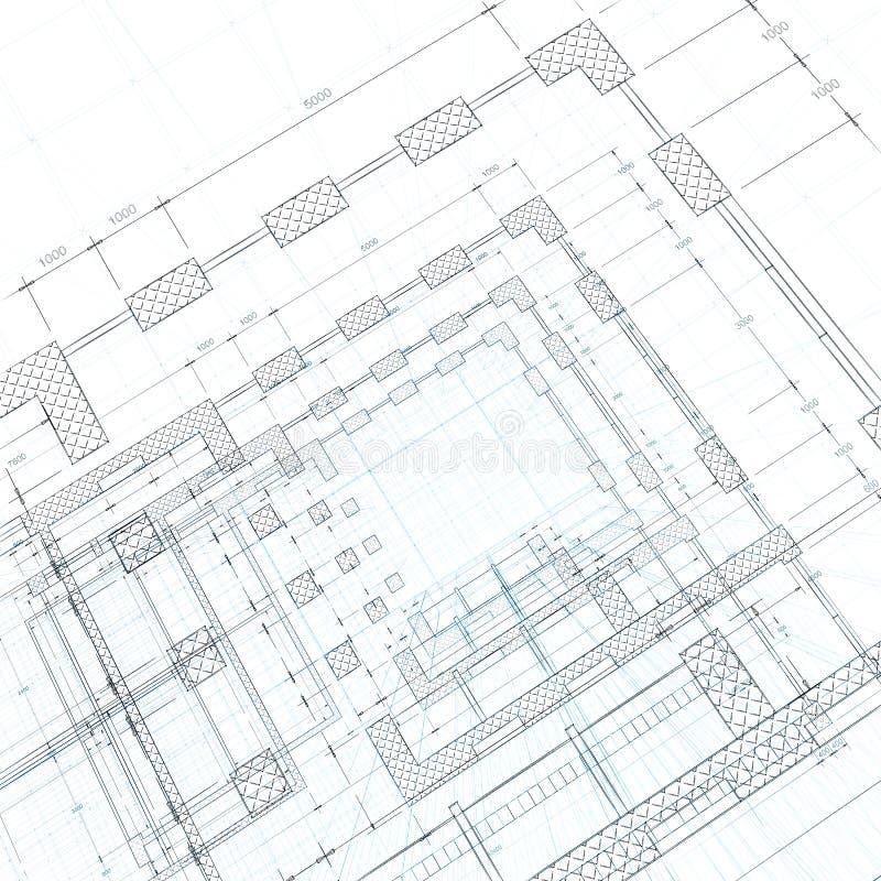 Architekturlichtpause vektor abbildung