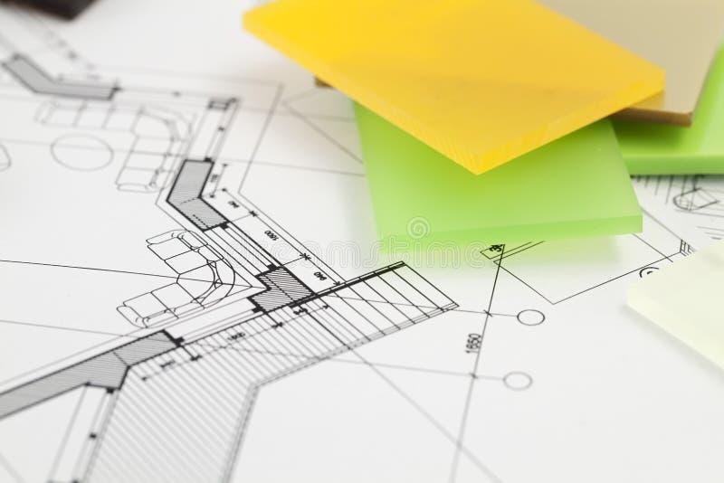 Architekturmaterialien - Plastik lizenzfreies stockfoto