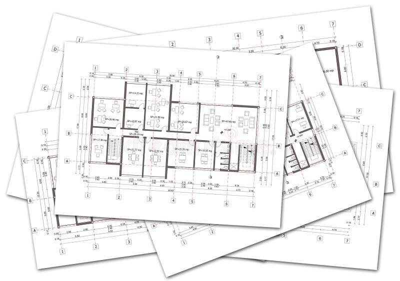 Architekturpläne lizenzfreies stockbild