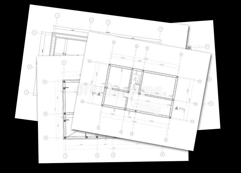 Architekturpläne stockfoto