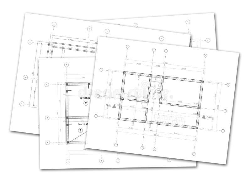 Architekturpläne stock abbildung