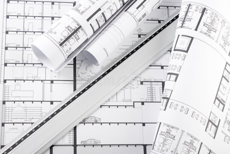 Architekturpläne lizenzfreie stockfotografie