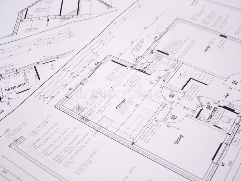 Architekturpläne stockfotografie