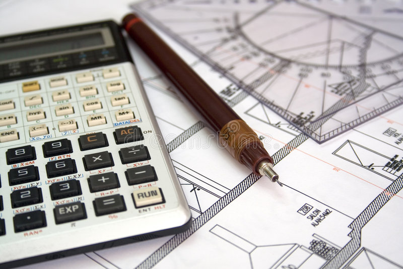 Architekturplan stockfoto