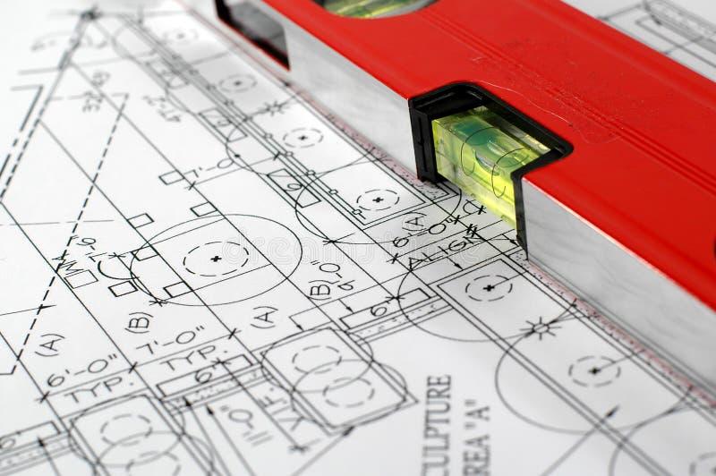 Architekturplan des Hauses stockfotos