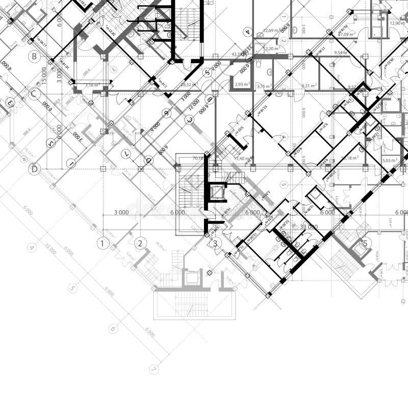 Architekturschwarzweiss-Hintergrund vektor abbildung