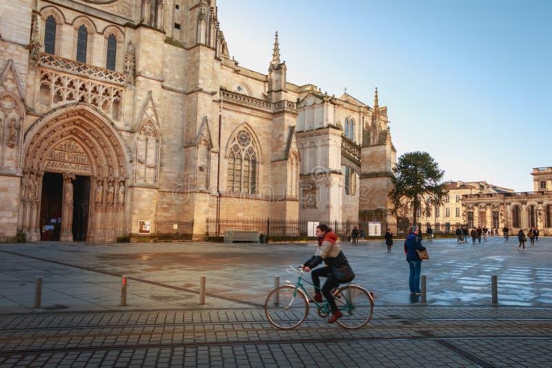 Architektursonderkommando des Kathedralen-Heiligen Andre de Bordeaux lizenzfreie stockfotos