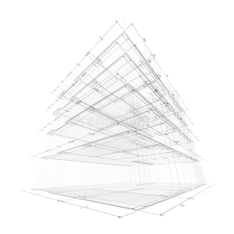 Architekturtechnikkonzept stock abbildung