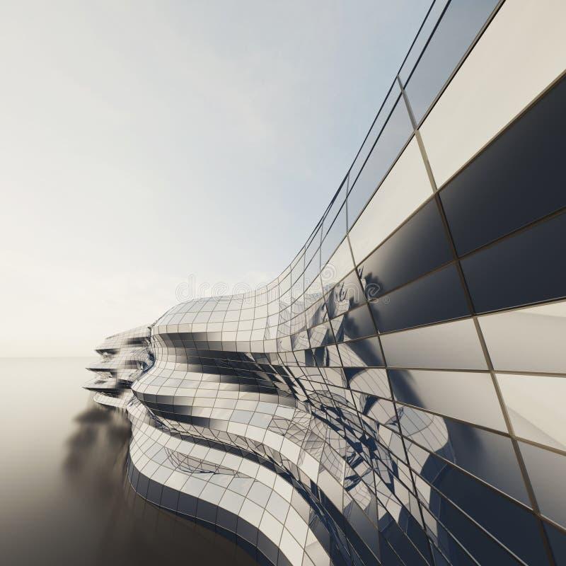 architektury abstrakcjonistyczna ściana royalty ilustracja