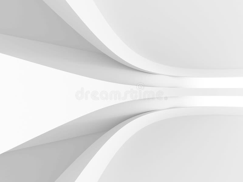 architektury abstrakcjonistyczny tło Futurystyczny pojęcie ilustracja wektor