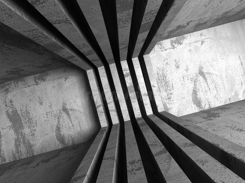 architektury abstrakcjonistyczny tło Geometryczny betonowy constructio ilustracja wektor