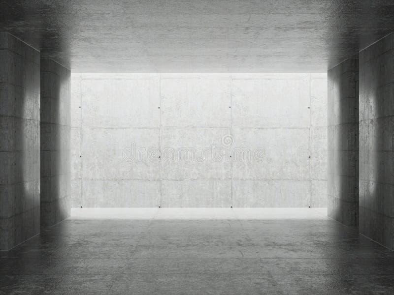 Architektury abstrakcjonistyczny Wn?trze ilustracja wektor