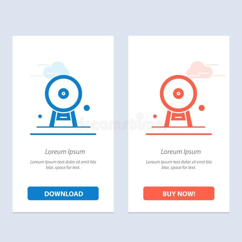 Architektury, Anglia, Ferris koła, punktu zwrotnego, London Eye, błękita i Czerwonej sieci Widget karty szablon, ilustracji