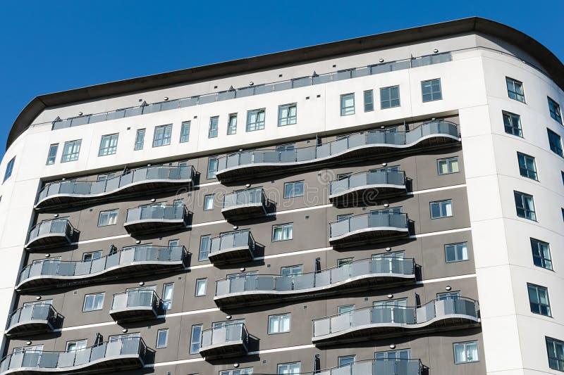 architektury Barcelona budynku współczesny mieszkaniowy Spain styl obraz stock