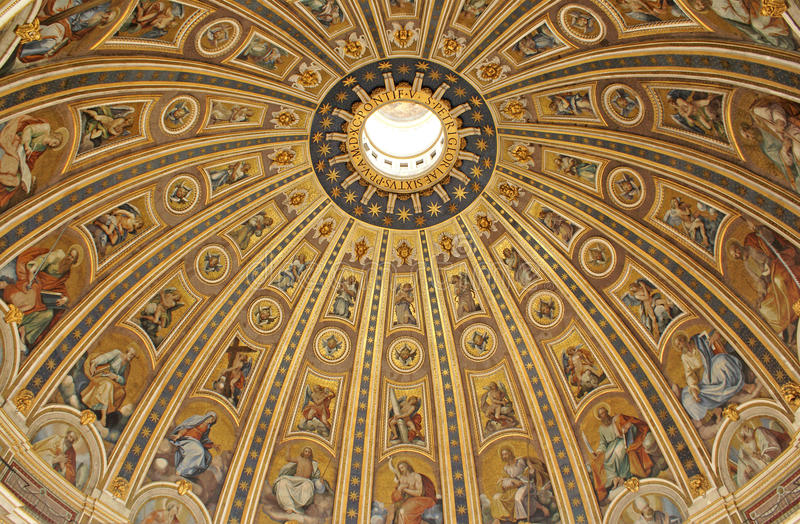 architektury bazylika Vatican obrazy royalty free