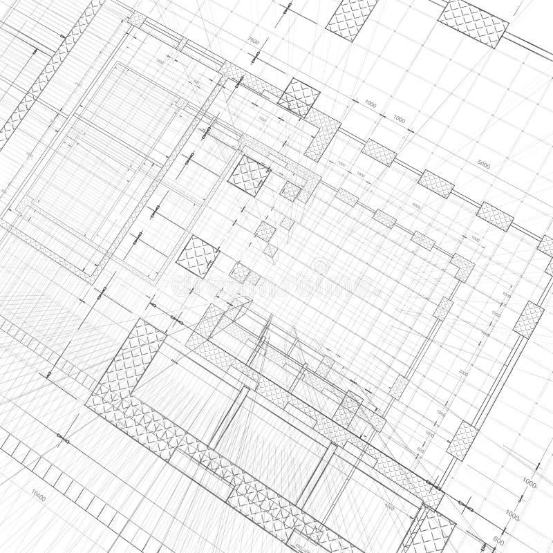 Architektury budowa royalty ilustracja