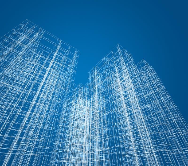 Architektury budowa ilustracja wektor
