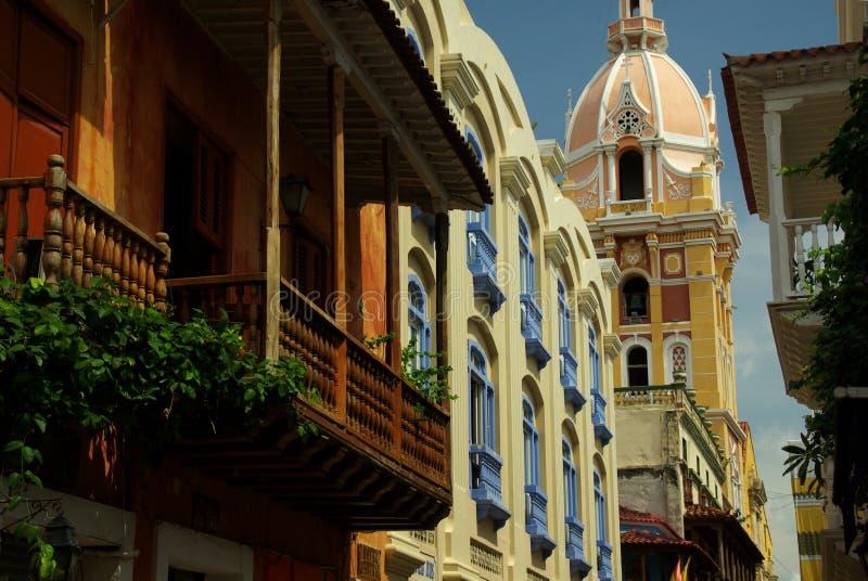 architektury Cartagena kolonista obraz stock