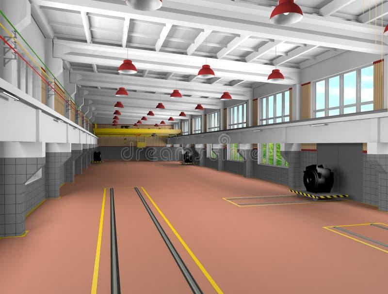 architektury crossbar przemysłowe metall strefy ilustracja wektor