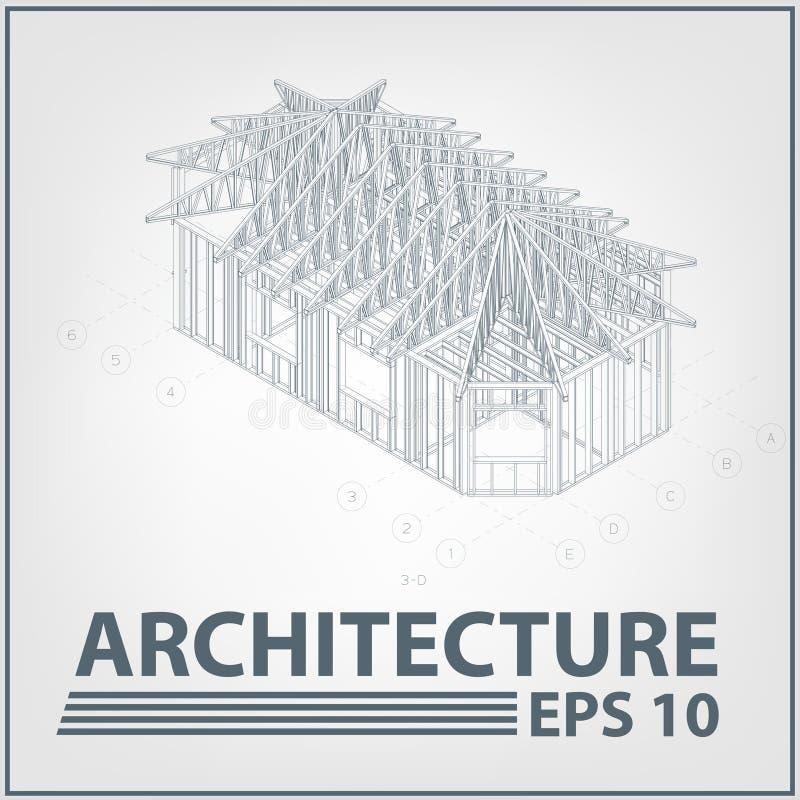 architektury domowy ilustracyjny projekta wektor ilustracja wektor