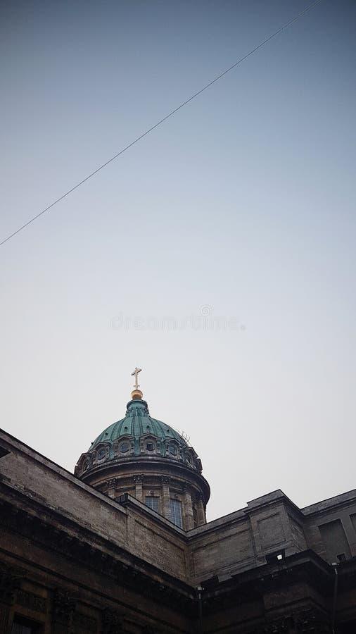 Architektury fasada, Miastowy styl, StPetersburg, Kazan katedra fotografia stock