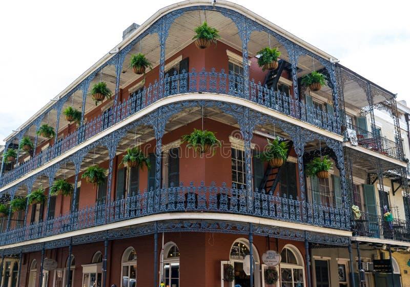 architektury francuska nowa Orleans ćwiartka obraz royalty free