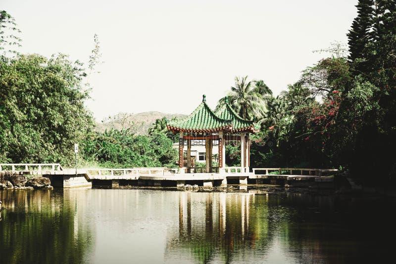 architektury gazebo architektoniczny Porcelanowy chiński budynek zdjęcia stock
