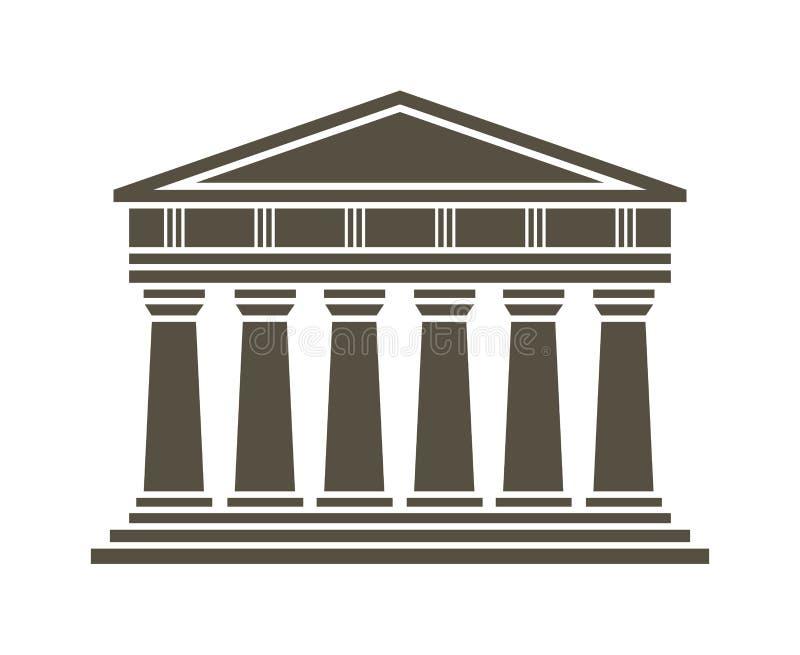Architektury grecka świątynna ikona royalty ilustracja