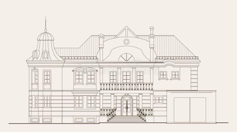 architektury ilustracja ilustracja wektor