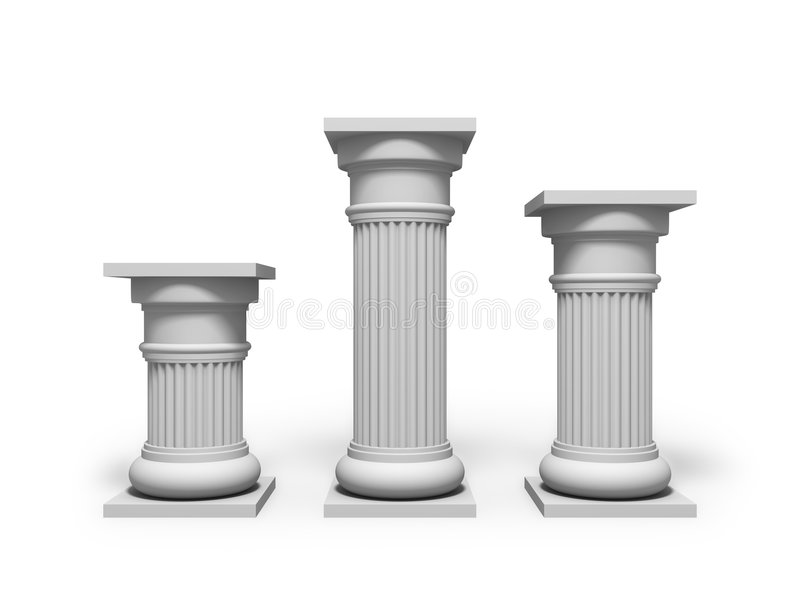 architektury kolumna royalty ilustracja