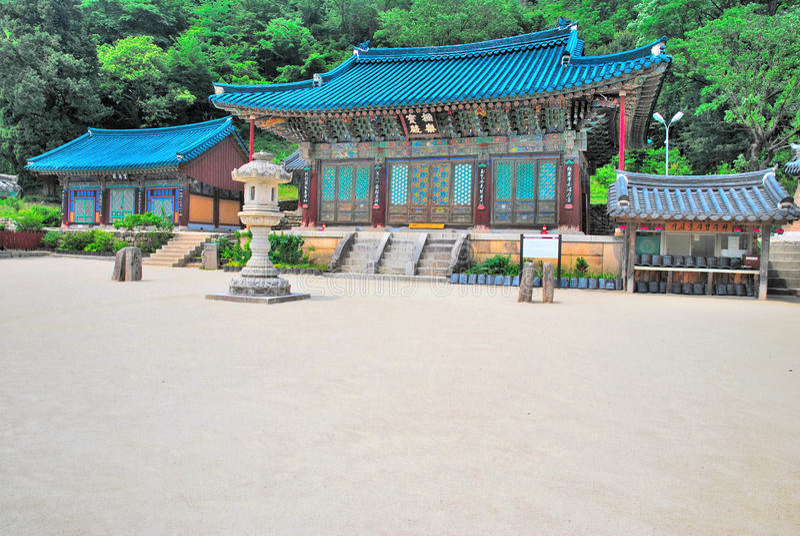 architektury koreańczyka świątynia zdjęcia royalty free