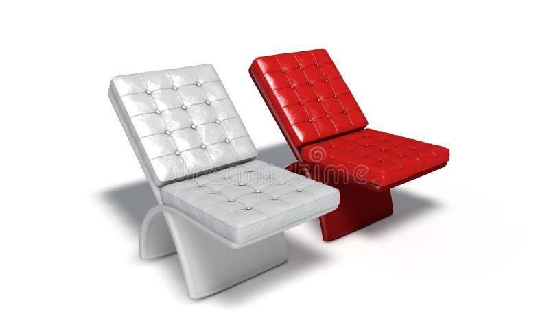Architektury krzesła wybiórki pojęcie, 3d odpłaca się ilustracji