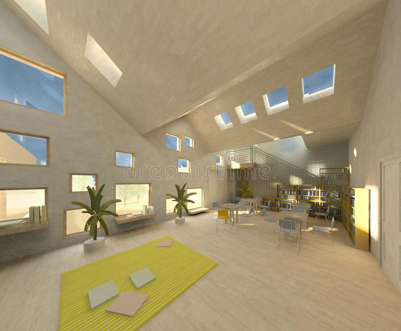 architektury loft nowożytny pokój royalty ilustracja