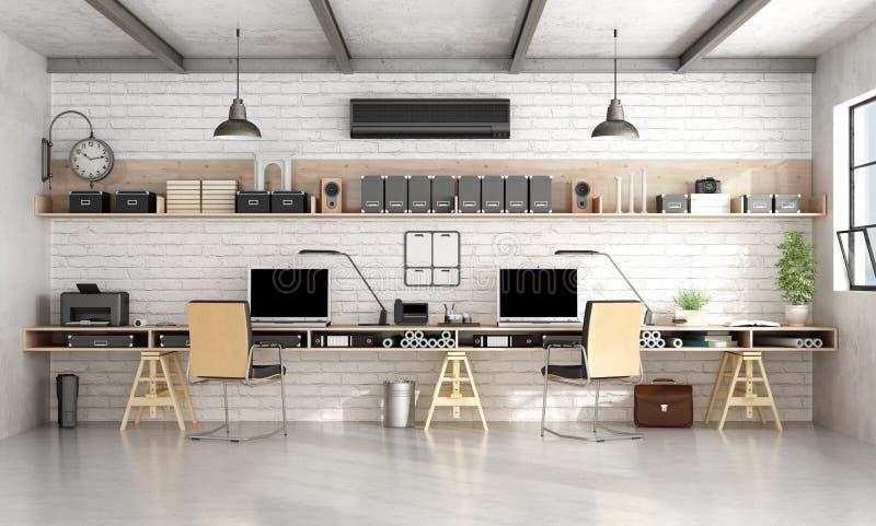 Architektury lub inżynierii biuro w przemysłowym stylu ilustracji